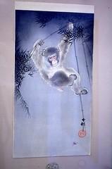 Affe Holzschnitt