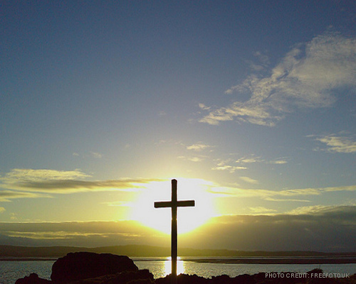 Cross with Sunsent