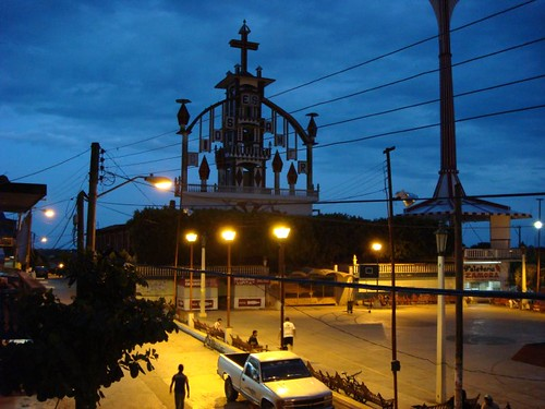 Sayula cathedral at dusk...