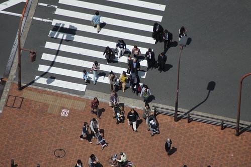 交差点の人々