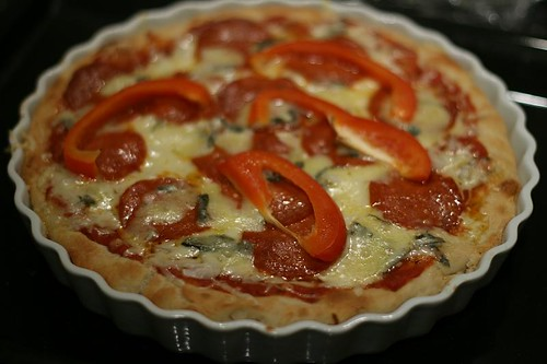 How to make deep dish piza