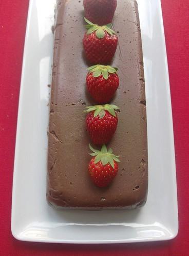 Mattonella di ricotta al cioccolato e fragole