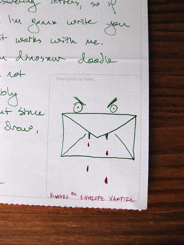 BEWARE the ENVELOPE VAMPIRE