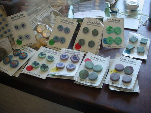 Hand made buttons by Lawre