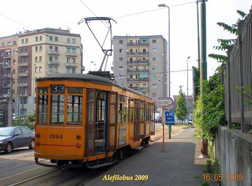 Milano: tram Ventotto n° 1994 - capolinea 33 piazza SIRE RAUL