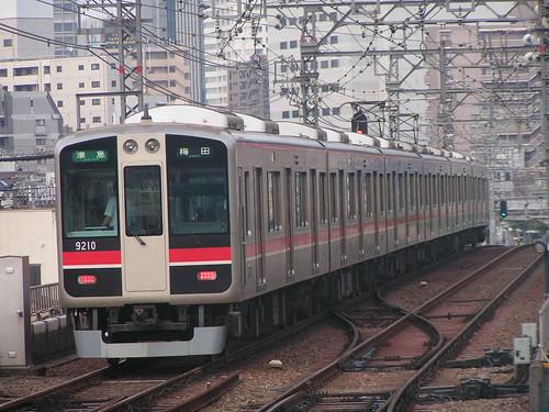 Hanshin9000series(Old color) in Noda,Osaka,Osaka,Japan 2008/7/11