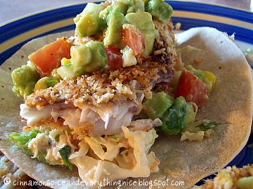 Coconut-Almond Crusted Fish Tacos