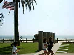 Santa Monica Armed Forces Memorial & American Flag