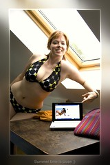 Foolish Ma (mischuge) Tags: selfportrait girl pose interestingness laptop explore sp selfie swimmingsuit 52weeks mischu 2152 may09 autoportrt mischuge