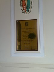 Photo of Charles Stewart Rolls and Frederick Henry Royce gold plaque