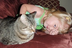 Catie & Teenie have some bonding time