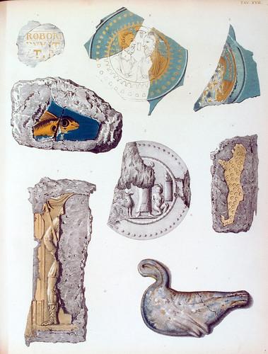 020- Objetos diversos hallados en las catacumbas-La Roma sotterranea cristiana - © Universitätsbibliothek Heidelberg