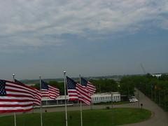 Kite Over NYC Harbor and Liberty State Park (Wind Watcher) Tags: nyc flags kap kiteaerialphotography libertystatepark kav dopero windwatcher chdk