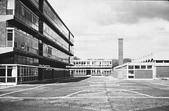 GKC/CSS/2/2/2 King's Park Secondary School, Glasgow - 1962 (Glasgow School of Art Archives & Library) Tags: architecture exterior glasgow architectural practice kidd schools kingspark gillespie firm 1962 gkc modernist glasgowschoolofart gillespiekiddandcoia secondaryschool coia blackandwhitephotographs isimetzstein andymacmillan archivesandcollectionscentre workingarchive