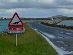 Otters Roadsign -Benbecula Causeway (fotofal) Tags: island scotland isle westernisles isles uist hebrides benbecula southuist outerhebrides berneray hebridean eriskay lochmaddy northuist lochboisdale uists