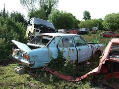 Mazda 818 (2) (Scrawb) Tags: ireland junkyard scrapyard oldcars rustycars kildare oldjapanesecars mazdacars oldmazda mazda818 oldmazdacars scrapyardcars