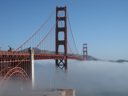 GG bridge on the fog