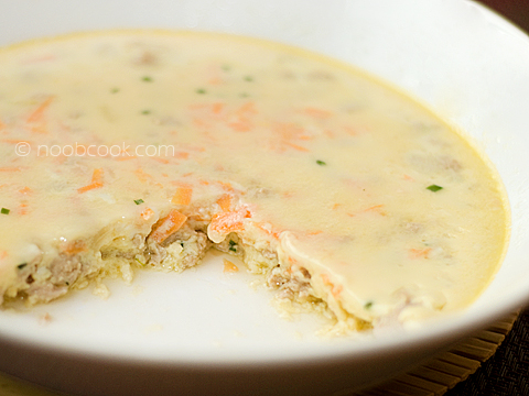 Steamed Egg with Minced Pork