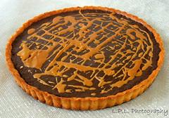 Tarte au chocolat (Pei-Lin Liew) Tags: french dessert intense rich tart darkchocolate lamaisonduchocolat doriegreenspan tarteauchocolat parissweets