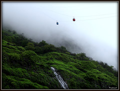 Take me to the heaven ...[Explored!] (Prashhant) Tags: mist mountain green nature rain fog clouds waterfall fort hill explore monsoon killa pune ropeway sahyadri shivaji raigad explored pachad