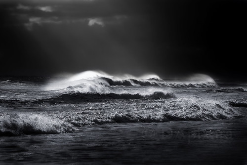 Atlantic Ocean Waves in Black and White Black and White Photography