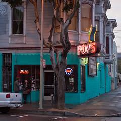 Pop's (Jeremy Brooks) Tags: sanfrancisco california usa bar neon photowalk missiondistrict martiniglass pops themission cocktailglass sanfranciscocounty photowalking dspw032010