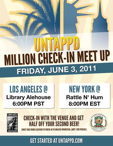 Untappd Million Checkin-In Meet Up