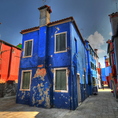 the blue house  _  Explore (rinogas) Tags: italy color nikon venezia hdr burano buranoisland rinogas