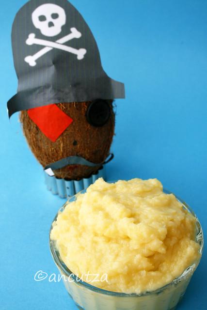 crema pasticcera al cocco e cocco pirata
