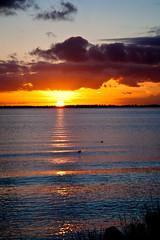 Gooimeer sunset (KennethVerburg.nl) Tags: sunset sun holland water netherlands dutch clouds landscape zonsondergang meer nederland wolken zon lage flevoland landschap almere gooimeer almerehaven canoneos5d
