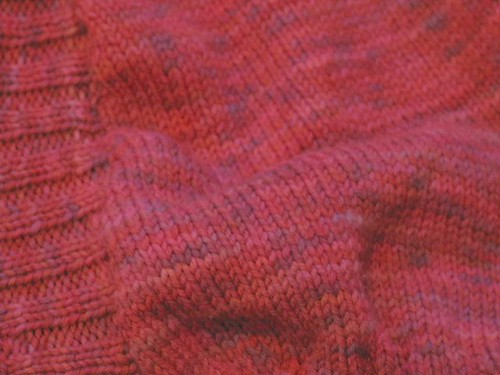 Red stockinette