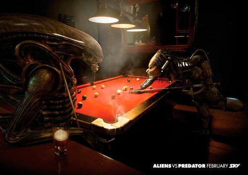 Alien vs Depredador Sky billar