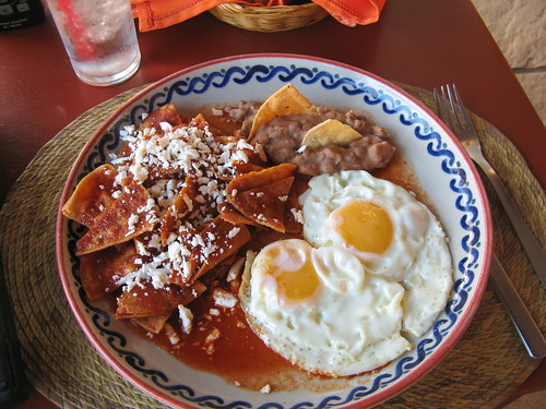 Mexican power breakfast: Chilaquiles