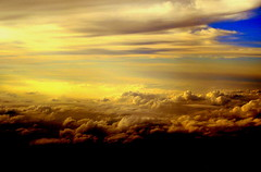 """In the beginning............."" (Clara Hinton) Tags: light nature clouds sunrise darkness bluesky sensational 1001nights abovetheclouds inthebeginning topshots the4elements aplusphoto concordians goldstaraward clarahinton qualitypixels panoramafotografico cffaa luckyorgood ilovenewbeginnings lookingoutthewindowofaplane"
