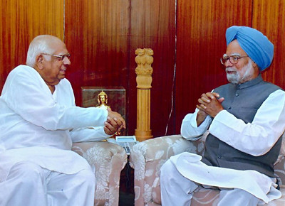 Manmohan Singh and Somnath Chatterjee