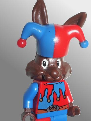 Rabbit clown minifig