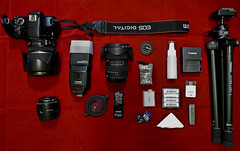 Travel Gear (edmundlwk) Tags: travel 50mm gear f18 eneloop raynoxdcr250 efs1755mmf28is canon450d manfrotto484rc2 430exii tokina1116mmf28 velbonluxil edmundlim