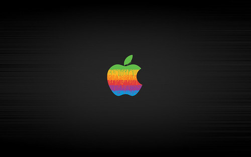 apple wallpaper tiger. Classic Apple Dripping Out