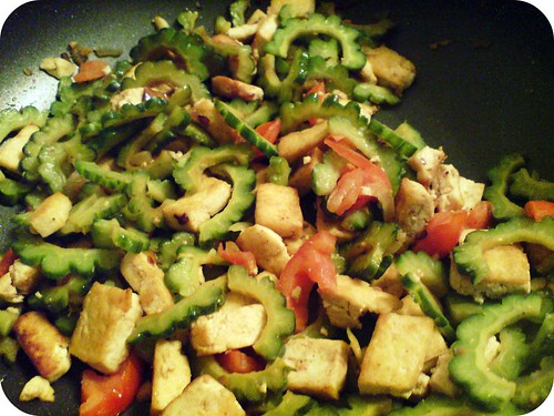 ... especially with a new ingredient introduced to the saute: fried tofu