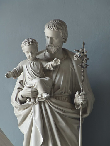 Old Cathedral - statue of Saint Joseph and the Christ Child