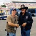 "Aaron meets ""The King"" Richard Petty at a NASCAR shoot in Louden, NH - September 15, 2005"