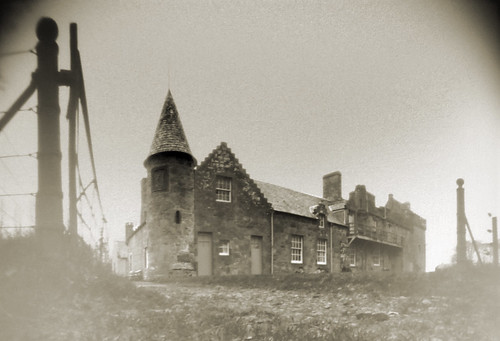Hunterston castle pinhole on paper-pinhole image