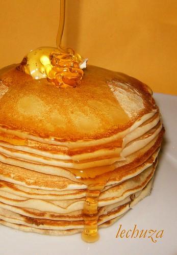 Pancakes-verter miel