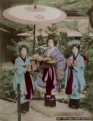 Tayuu with two child attendants (kamuro) (noel43) Tags: japan japanese district prostitute prostitution redlight pleasure meiji courtesan yoshiwara oiran tayu tayuu kamuro