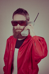 car phone (WOLF CHOIR) Tags: lighting corporate cellphone headshot explore motorola michaeljackson glam studioshot drugdealer studioportrait michaeljordan michaels coveralls studiolighting photogenic thriller olanmills glamourous hugebeard phoner pure80s prozone proshots pure90s solarshields confcall lofiart michaelschurter hugecarphone thrillerjacket beyondthe90s totalnba glamourandheadshots