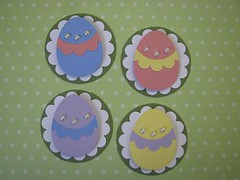 Easter Egg Embellies (JustScrappinHappy) Tags: scrapbooking easter fun cards sticker egg gifts surprise embellishments etsyshop justdandy shessocrafty craftaday arainbowofcolor allthingsfun shesocraft
