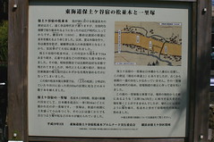 Hodogaya Pine Lined Old Tokaido and 1 Ri Mound Historical Marker and Guide Map on the Old Tokaido (only1tanuki) Tags: sign japan closeup yokohama historicalmarker hodogaya kanagawaprefecture routemarker oldtokaido hodogayajuku needtotranslate