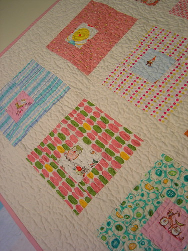 The Last Squares in Squares Quilt - detail