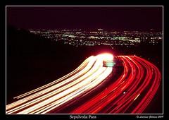 Sepulveda Pass At Night (Image Preservation Project) (lhg_11, 2million views. Thank you!) Tags: california longexposure nightphotography losangeles nikon traffic signage sanfernandovalley freeways 405freeway lightstreaks sepulvedapass sandiegofreeway 35mmkodachrome