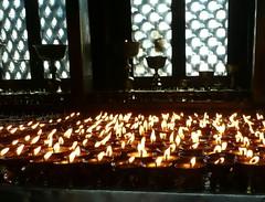 Swayambhunath, Katmandu, Nepal (balavenise) Tags: nepal light temple shrine candle god buddha prayer religion buddhism katmandu swayambhunath prire devnagari  flickrgiants
